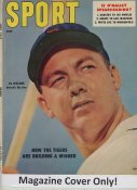 """Al Kaline """"MAGAZINE COVER ONLY"""" 1957 ORIGINAL Sport Magazine Cover INCLUDES FREE TOP LOAD HOLDER"""