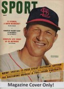 "Stan Musial ""MAGAZINE COVER ONLY"" 1954 ORIGINAL Sport Magazine Cover INCLUDES FREE TOP LOAD HOLDER"