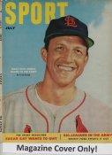 "Stan Musial ""MAGAZINE COVER ONLY"" 1952 ORIGINAL Sport Magazine Cover INCLUDES FREE TOP LOAD HOLDER"