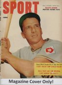 "Ralph Kiner ""MAGAZINE COVER ONLY"" 1952 ORIGINAL Sport Magazine Cover INCLUDES FREE TOP LOAD HOLDER"