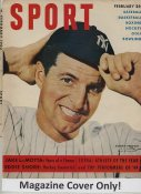 """Tommy Henrich """"MAGAZINE COVER ONLY"""" 1950 ORIGINAL Sport Magazine Cover INCLUDES FREE TOP LOAD HOLDER"""