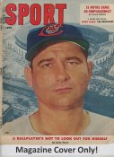 "Early Wynn ""MAGAZINE COVER ONLY"" 1957 ORIGINAL Sport Magazine Cover INCLUDES FREE TOP LOAD HOLDER"