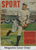 """Christy Mathewson """"MAGAZINE COVER ONLY"""" 1949 ORIGINAL Sport Magazine Cover INCLUDES FREE TOP LOAD HOLDER"""