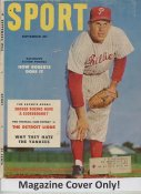 "Robin Roberts ""MAGAZINE COVER ONLY"" 1953 ORIGINAL Sport Magazine Cover INCLUDES FREE TOP LOAD HOLDER"