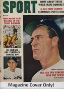 "Gil Hodges ""MAGAZINE COVER ONLY"" 1959 ORIGINAL Sport Magazine Cover INCLUDES FREE TOP LOAD HOLDER"