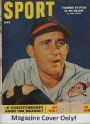 "Bob Lemon ""MAGAZINE COVER ONLY"" 1953 ORIGINAL Sport Magazine Cover INCLUDES FREE TOP LOAD HOLDER"