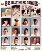 Mike Mussina, Brady Anderson, Bret Barberie, Cal Ripken, Harold Baines, Leo Gomez 1995 Baltimore Orioles LIMITED STOCK 8X10 Photo