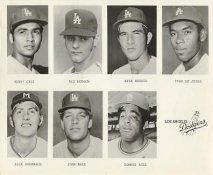 Henry Cruz, Rex Hudson, Rick Rhoden, Ivan DeJesus, John Hale LIMITED STOCK Slight Water Damage Los Angeles Dodgers 8X10 Photo