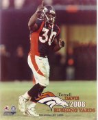 Terrell Davis LIMITED STOCK 2008 Rushing Yards December 27, 1998 Denver Broncos 8X10 Photo