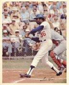 Frank Robinson Original Stadium Souvenir With Stamped Signature Dodgers 8X10 Photo