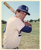 Maury Wills Original Stadium Souvenir With Stamped Signature Dodgers 8X10 Photo
