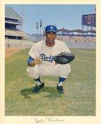 John Roseboro Original Stadium Souvenir With Stamped Signature Dodgers 8X10 Photo