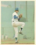 Geoff Zahn Original Stadium Souvenir With Stamped Signature Dodgers 8X10 Photo