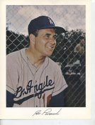 Ron Perranoski Original Stadium Souvenir With Stamped Signature Dodgers 8.5X11 Photo