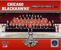 Chicago Blackhawks 2013 Stanley Cup Champions Sit Down on Ice SATIN 8x10 Photo