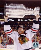 Duncan Keith W/ Stanley Cup Chicago Blackhawks 2013 Stanley Cup Champions SATIN 8x10 Photo