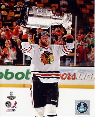 Bryan Bickell W/ Stanley Cup Chicago Blackhawks 2013 Stanley Cup Champions SATIN 8x10 Photo