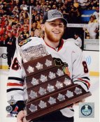 Patrick Kane W/ Conn Smythe Trophy Chicago Blackhawks 2013 Stanley Cup Champions SATIN 8x10 Photo