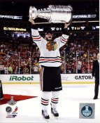 Jonathan Toews W/ Stanley Cup Chicago Blackhawks 2013 Stanley Cup Champions SATIN 8x10 Photo