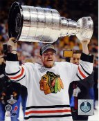 Andrew Shaw W/ Stanley Cup Chicago Blackhawks 2013 Stanley Cup Champions SATIN 8x10 Photo