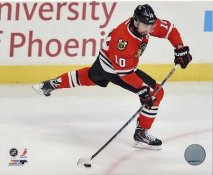 Patrick Sharp Chicago Blackhawks 2013 Stanley Cup Champions Playoff Game SATIN 8x10 Photo