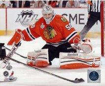 Corey Crawford Game 1 Chicago Blackhawks 2013 Stanley Cup Champions SATIN 8x10 Photo