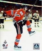 Patrick Kane Celebrates 2nd Goal Game 5 Chicago Blackhawks 2013 Stanley Cup Finals SATIN 8x10 Photo