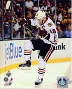 Jonathan Toews Celebrates Goal Game 4 Chicago Blackhawks 2013 Stanley Cup Finals SATIN 8x10 Photo