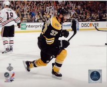 Patrice Bergeron Goal Game 3 2013 Stanley Cup Finals Boston Bruins SATIN 8x10 Photo