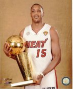 Mario Chalmers with 2013 NBA Championship Trophy Miami Heat SATIN 8X10 Photo LIMITED STOCK