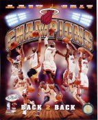 Miami 2013 NBA Champions Team Photo BACK TO BACK Composite SATIN 8X10 Photo LIMITED STOCK