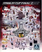 Chicago Blackhawks 2013 Stanley Cup Champions Numbered Limited Edition SATIN 8x10 Photo