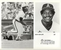 Don Baylor LIMITED STOCK California Angels ORIGINAL TEAM ISSUED 8X10 Photo