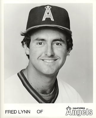 Fred Lynn LIMITED STOCK California Angels ORIGINAL TEAM ISSUED 8X10 Photo