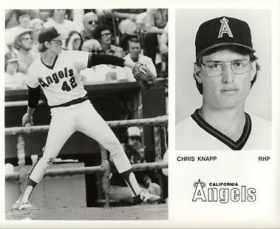 Chris Knapp LIMITED STOCK California Angels ORIGINAL TEAM ISSUED 8X10 Photo