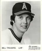 Bill Travers LIMITED STOCK California Angels ORIGINAL TEAM ISSUED 8X10 Photo