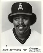 Jesse Jefferson LIMITED STOCK California Angels ORIGINAL TEAM ISSUED 8X10 Photo