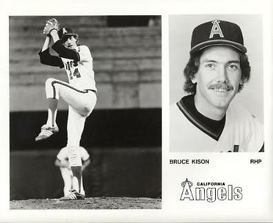 Bruce Kison LIMITED STOCK California Angels ORIGINAL TEAM ISSUED 8X10 Photo