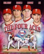 Roy Halladay, Cole Hamels, Roy Oswalt, Cliff Lee LIMITED STOCK Philadelphia Phillies 8X10 Photo