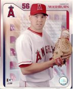 Jarrod Washburn LIMITED STOCK Studio Anaheim Angels 8X10 Photo