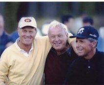 Gary Player, Jack Nicklaus & Arnold Palmer 8X10 Photo