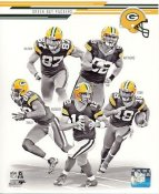 Clay Matthews, Randall Cobb, Aaron Rodgers, Jermichael Finley, Jordy Nelson 2013 Green Bay Packers Team SATIN 8X10 Photo