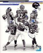 Terrell Suggs, Joe Flacco, Ray Rice, Jacoby Jones, Haloti Ngata, Torrey Smith 2013 Baltimore Ravens Team SATIN 8x10 Photo