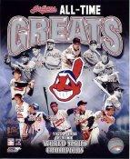 Larry Doby, Omar Vizquel, Early Wynn, Al Rosen, Bob Feller, Lou Boudreau, Jim Thome All Time Greats Cleveland Indians SATIN 8X10 Photo LIMITED STOCK -