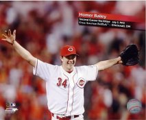 Homer Bailey 2nd Career No Hitter Cincinnati Reds SATIN 8x10 Photo
