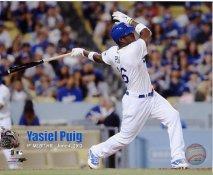 Yasiel Puig 1st MLB HomeRun LA Dodgers SATIN 8x10 Photo
