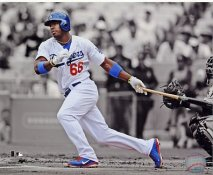 Yasiel Puig Spotlight LA Dodgers SATIN 8x10 Photo