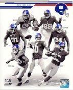 Victor Cruz, Eli Manning, Jason Pierre-Paul, Justin Tuck, Hakeem Nicks, Mathias Kiwanuka 2013 New York Giants Team SATIN 8X10 Photo