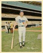 Ted Sizemore Original Stadium Souvenir With Stamped Signature LA Dodgers 8x10 Photo