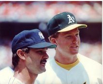 Don Mattingly & Mark McGwire LIMITED STOCK Yankees/Athletics 8X10 Photo